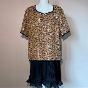 Vintage Liz Claiborne Sequin Dress